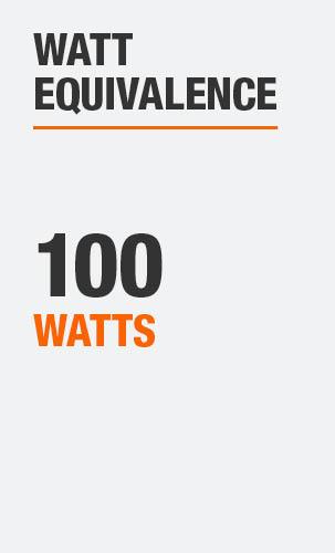 Watt Equivalence is 100 Watts
