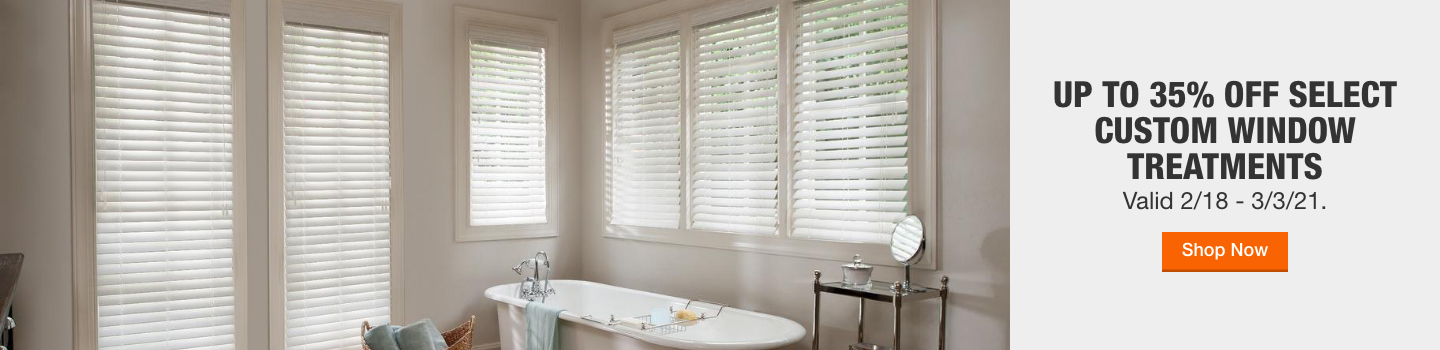 Up to 35% Off Select Custom Window Treatments