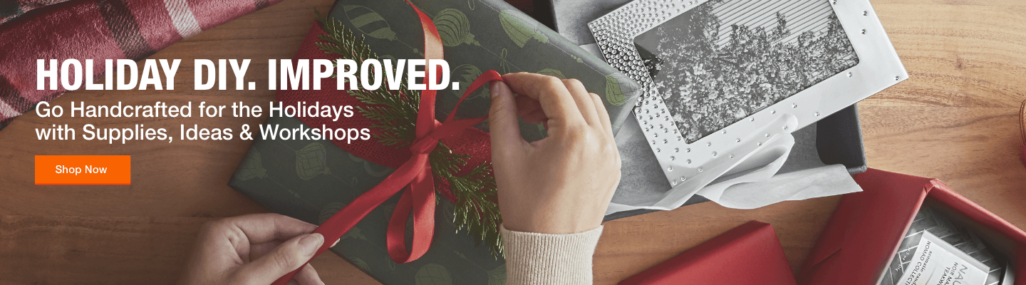 """Holiday DIY. Improved.  Go Handcrafted for the Holidays with Supplies, Ideas & Workshops."""