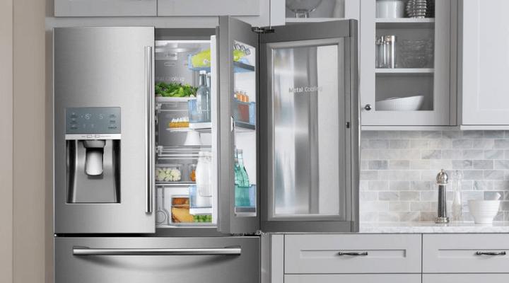 Door-in-door refrigerators
