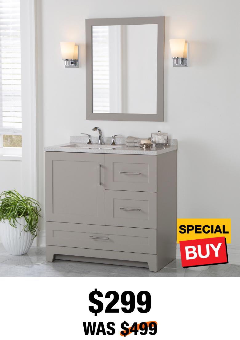 Exclusive Dorston 36.5 in. Vanity with Top & Mirror