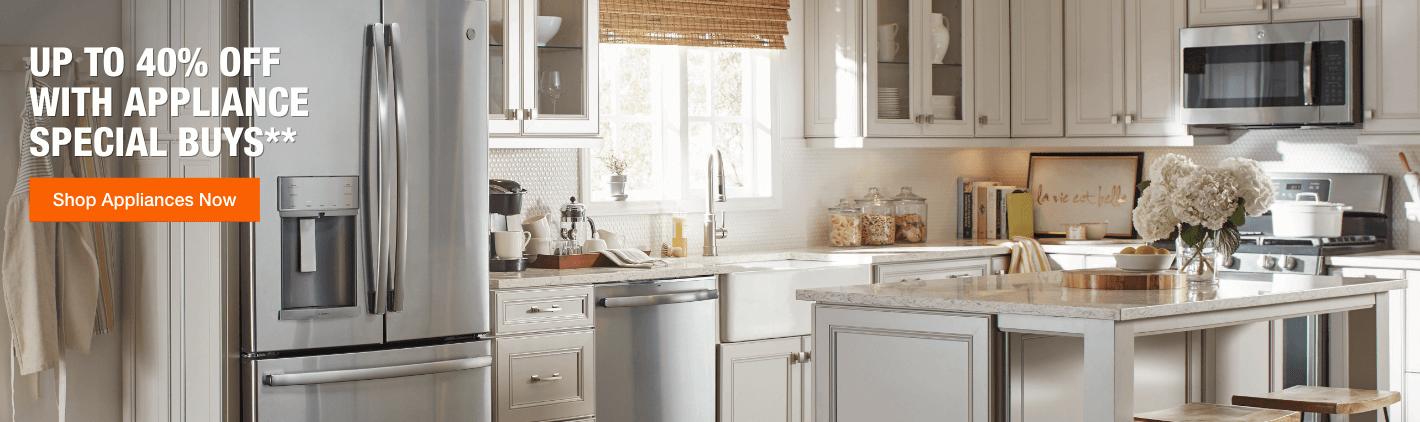 GE Adora stainless kitchen suite