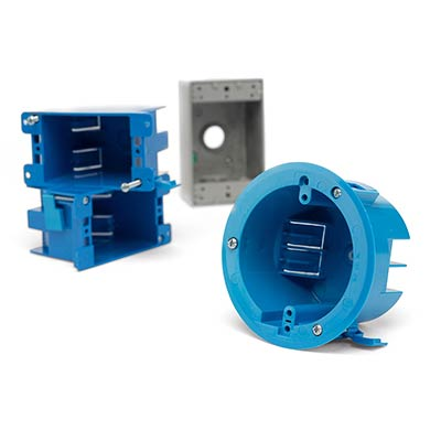 Electrical boxes and brackets