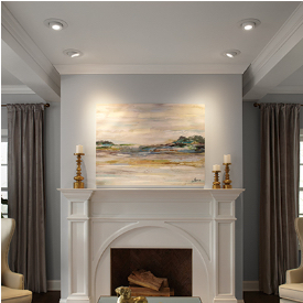 Gallery Spotlight artwork or wash a wall with light