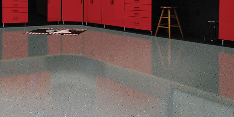 Garage floor stains & coatings