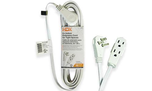 Indoor extension cords