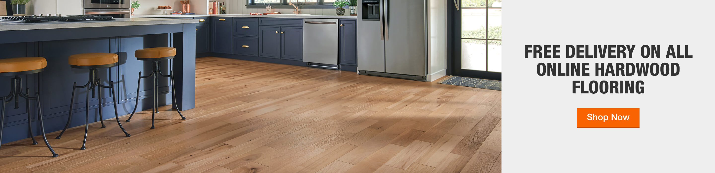 Free Delivery on All Online Hardwood Flooring
