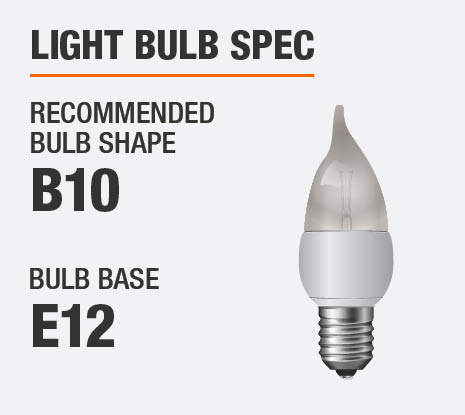 The Recommended Bulb Shape is B10 and the Bulb Base E12