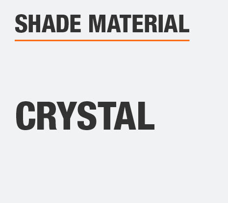 The Shade Material  is Crystal