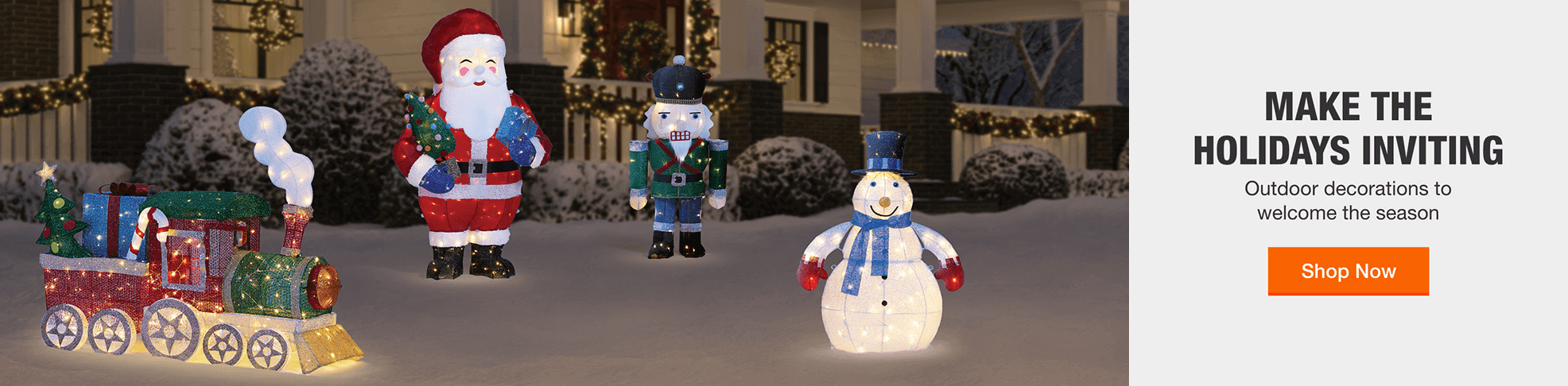MAKE THE HOLIDAYS INVITING - Outdoor decorations to welcome the season. Shop Now