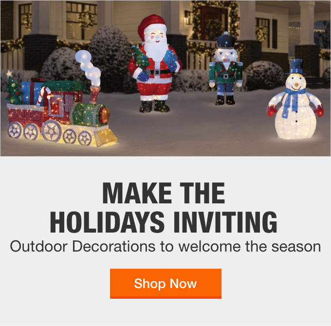 Outdoor Christmas Decorations The Home Depot