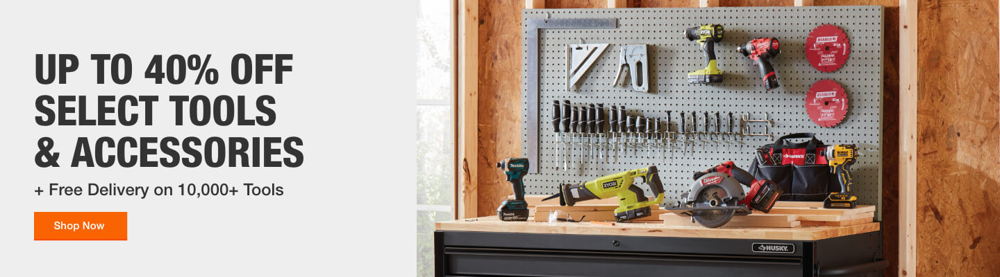 UP TO 40% OFF SELECT TOOLS & ACCESSORIES + Free Delivery on 10,000+ Tools