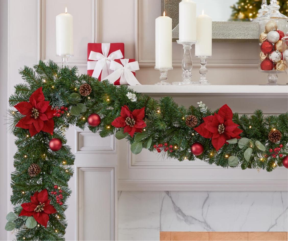 Christmas Garland Christmas Greenery The Home Depot