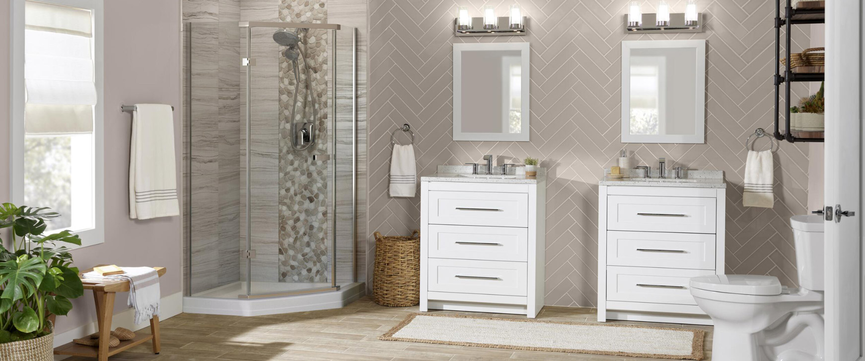 Explore bathroom designs to find the right look for you