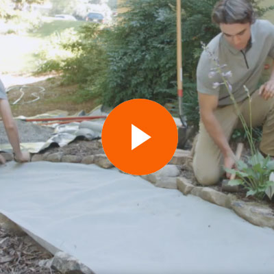 How to install landscaping fabric