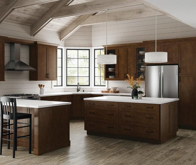 Hampton Bay Designer Series  Soleste Spice Cabinets