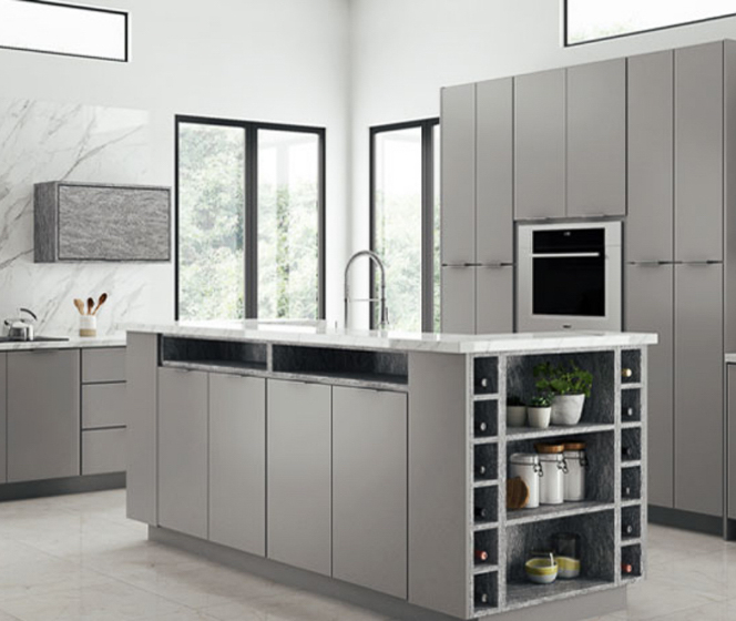 Home Decorators Collection Midtown Matte Gray Cabinets