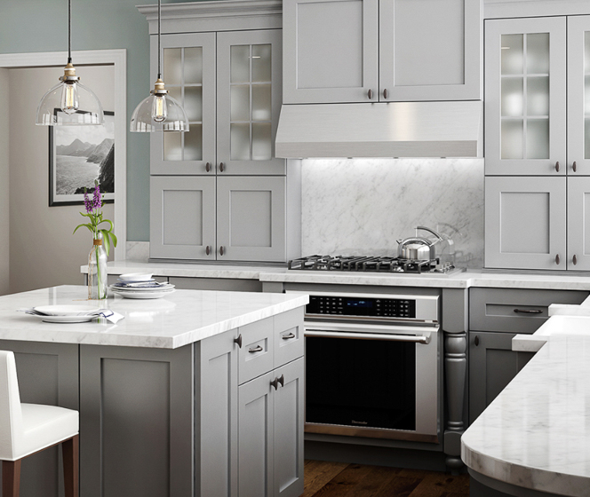 Home Decorators Collection Tremont Pearl Gray Cabinets