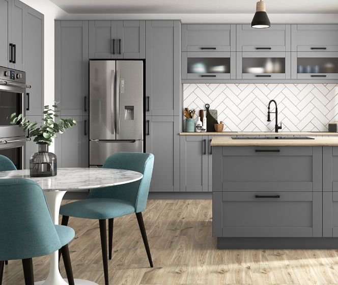 J Collection Shaker Gray Cabinets