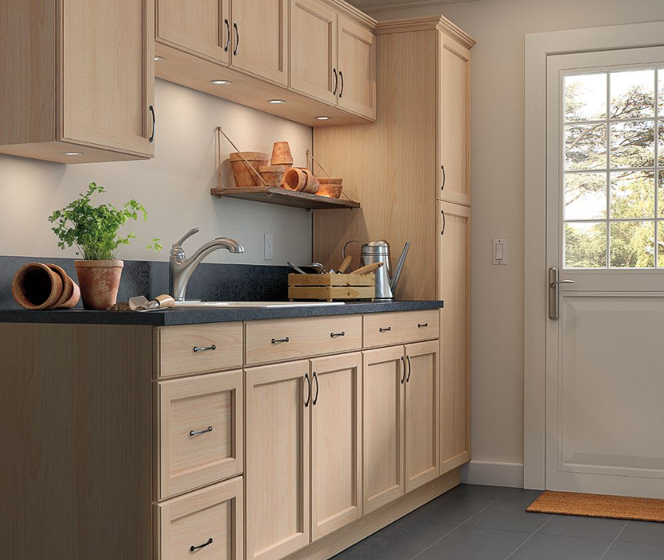 Easthaven Frameless Unfinished Beech Cabinets