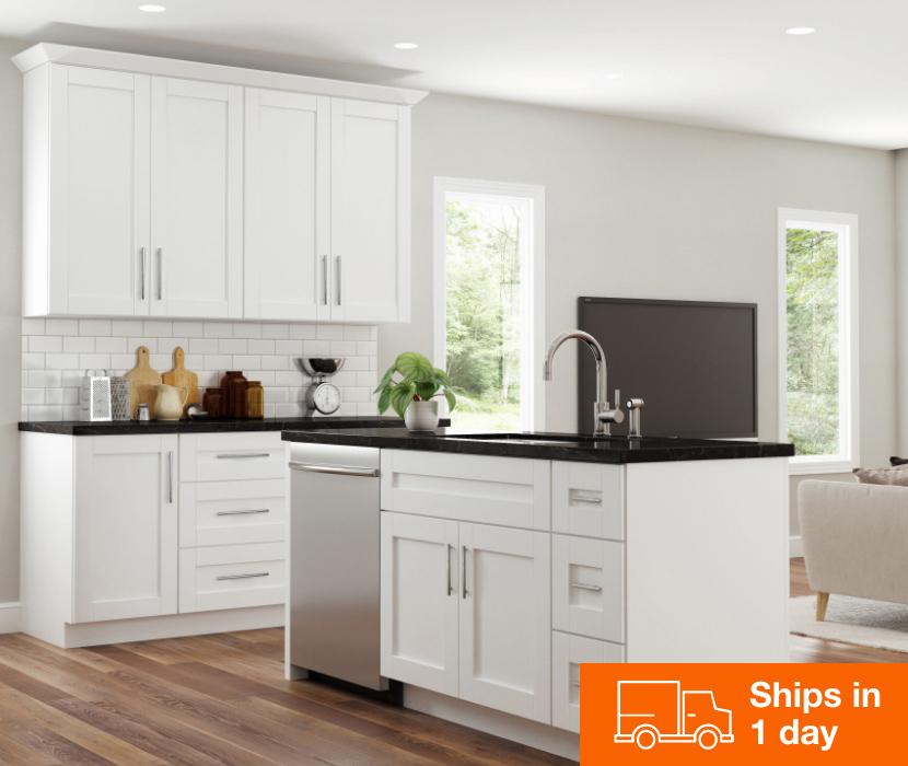 Hampton Bay White Shaker Cabinets