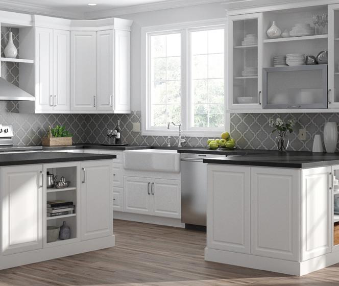 Hampton Bay Designer Series Elgin White Cabinets
