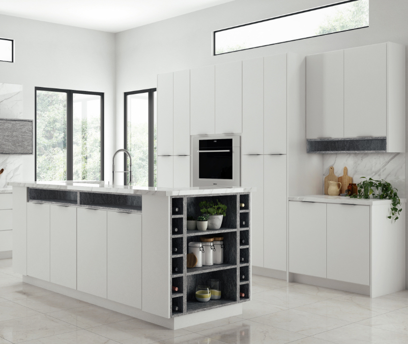 Home Decorators Collection Midtown Matte White Cabinets