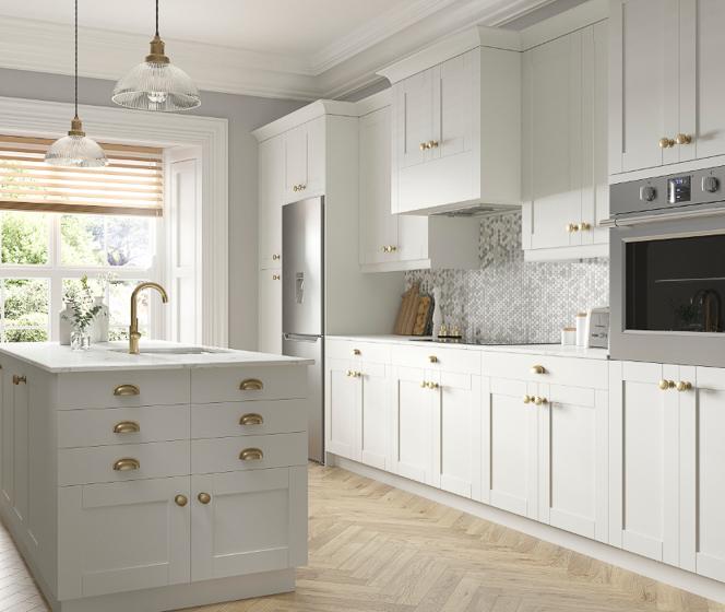 J Collection Shaker Vanilla White Cabinets
