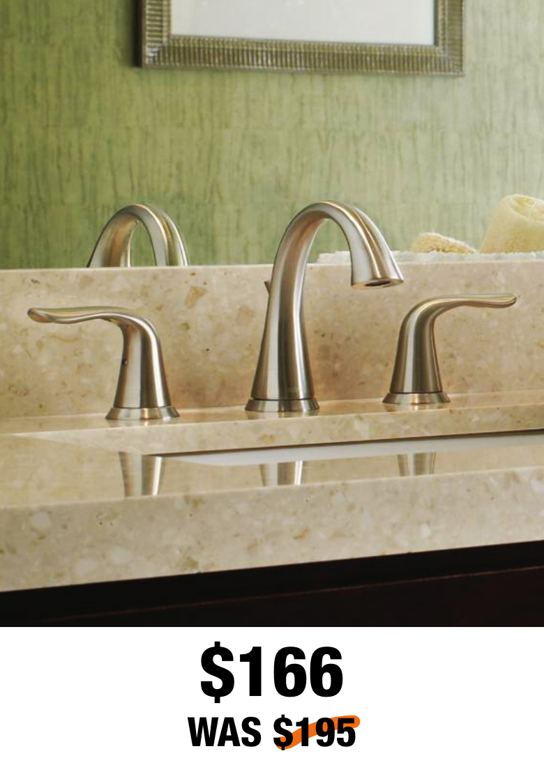 Lahara 8 in. Widespread Bathroom Faucet in Stainless