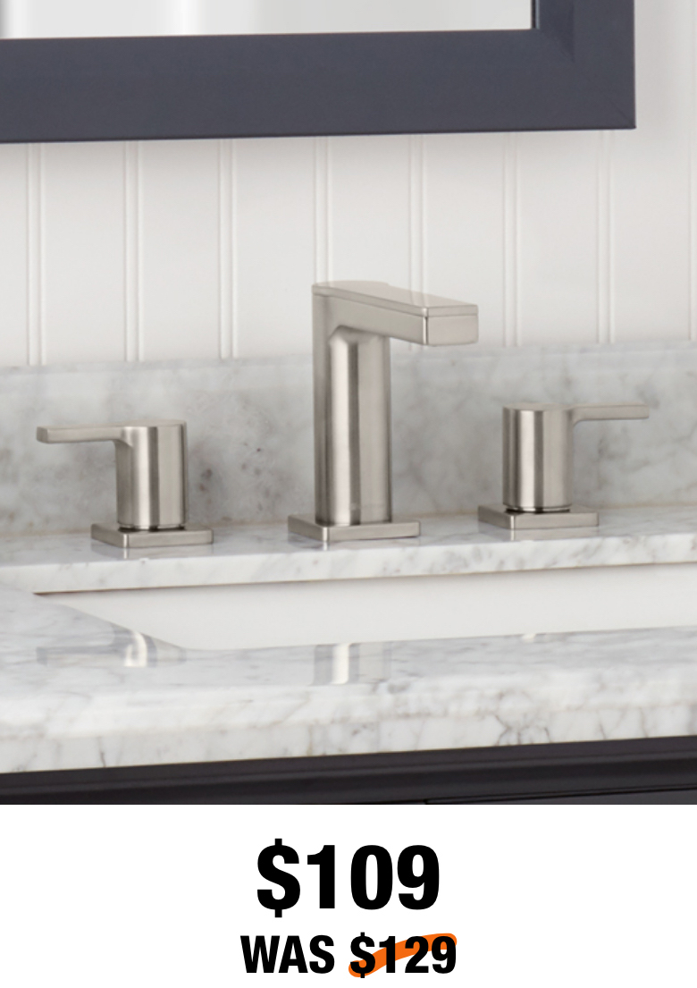 Modern Contemporary 8 in. Widespread Bathroom Faucet in Brushed Nickel