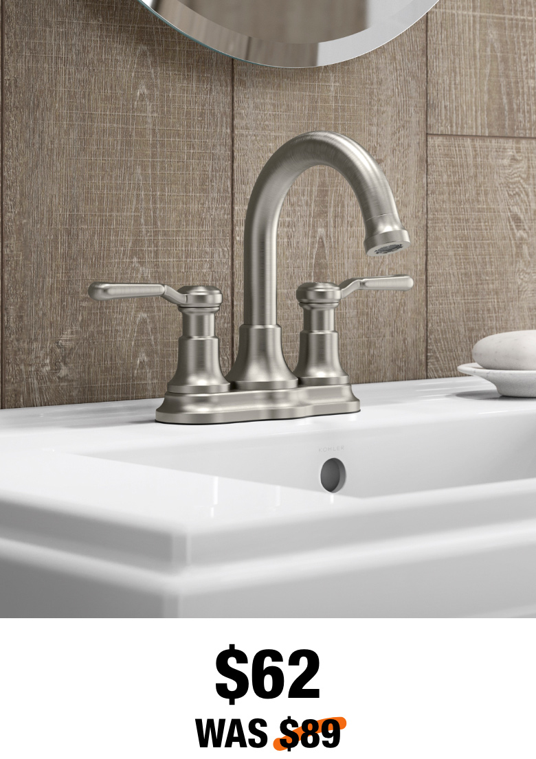 Worth 4 in. Centerset Bathroom Faucet in Vibrant Brushed Nickel