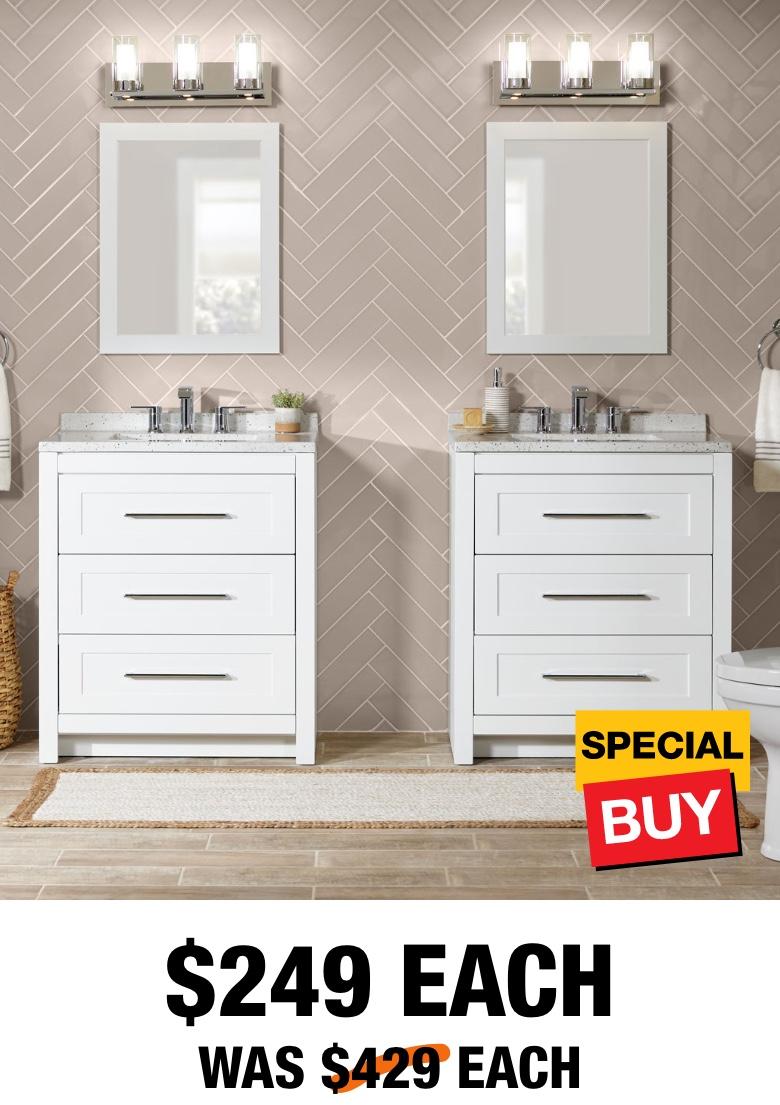 Exclusive Sandhill 30.5 in. Vanity with Top & Mirror