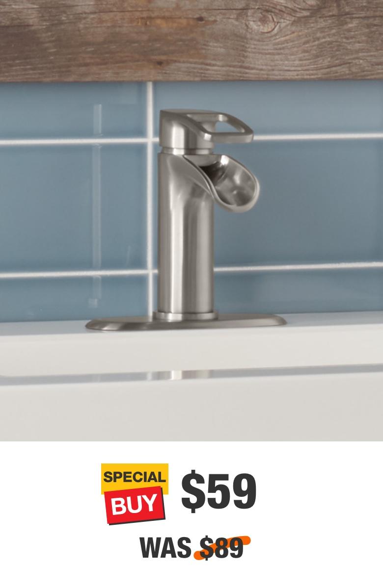 Kiso 4 in. Centerset Bathroom Faucet in Brushed Nickel