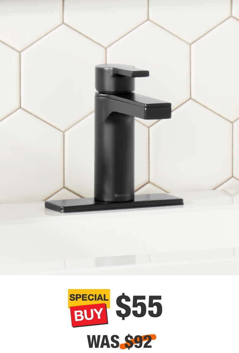 Modern Contemporary Single Hole Bathroom Faucet in Matte Black
