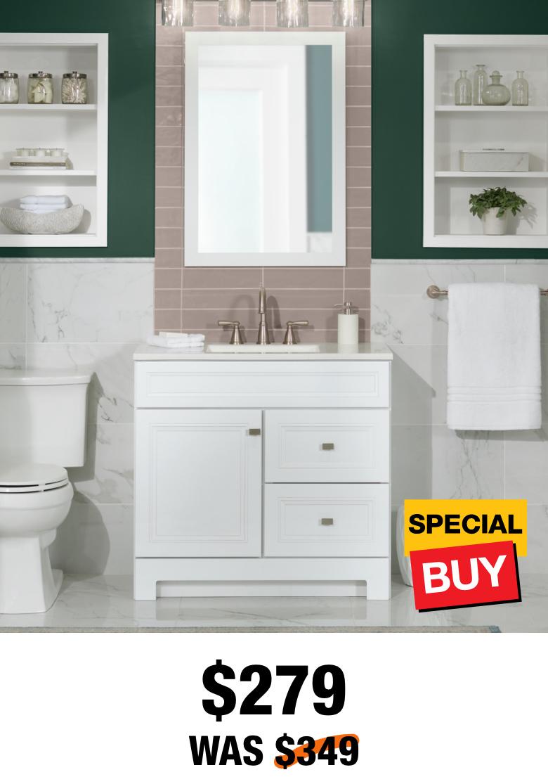 Exclusive Sedgewood 36.5 in. Vanity with Top & Mirror