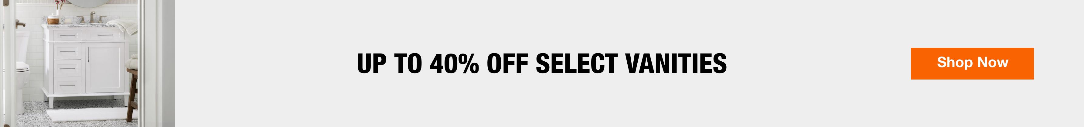Up to 40% off select vanities