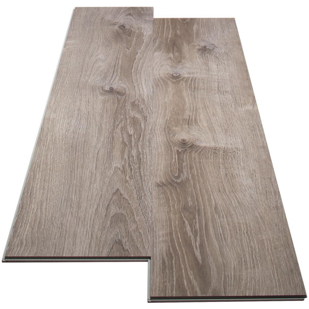 Enjoy the look and feel of hardwood flooring for less. Click-lock design makes it easy to install