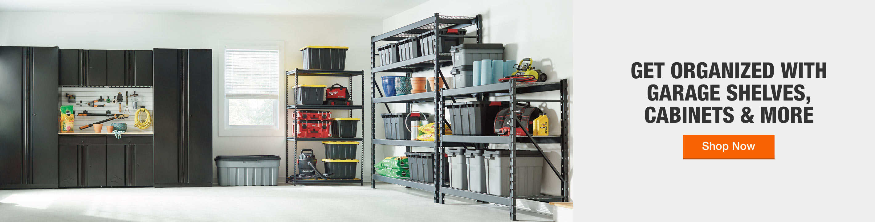 Get Organized with Garage Shelves, Cabinets & More
