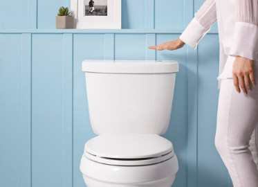 Touchless toilets