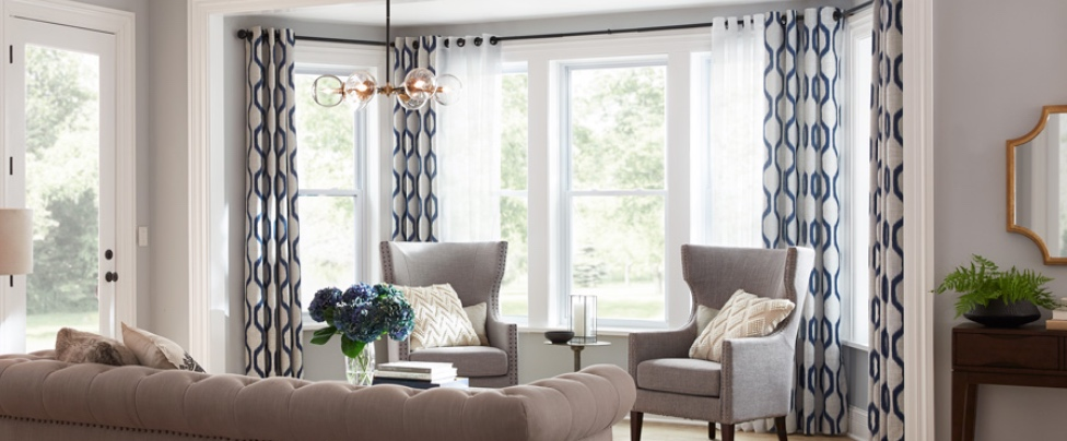 What's the Difference?   Typically, drapes hang to the floor and have linings while curtains tend to fall just below the windowsill