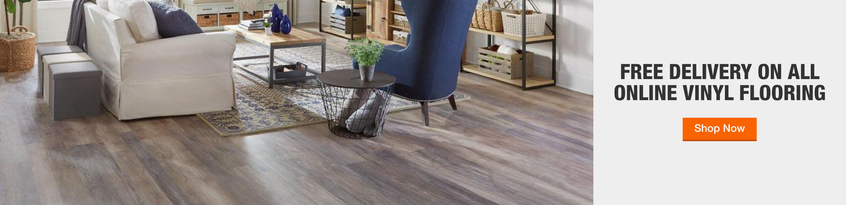 Free Delivery on All Online Vinyl Flooring