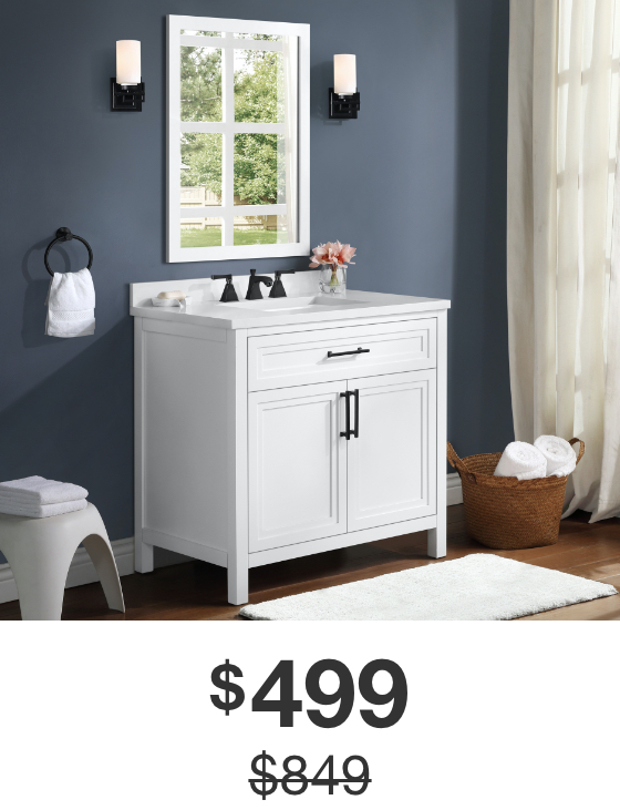 Mayfield 36 in. White Vanity with Cultured Marble Top
