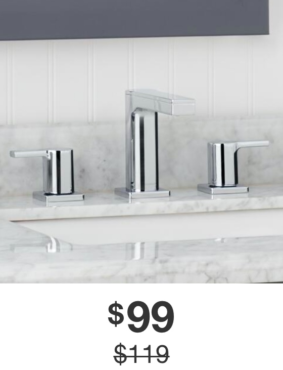 Modern Contemporary 8 in. Widespread 2-Handle Low-Arc Bathroom Faucet in Chrome