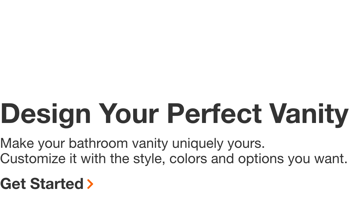 Design Your  Perfect Vanity