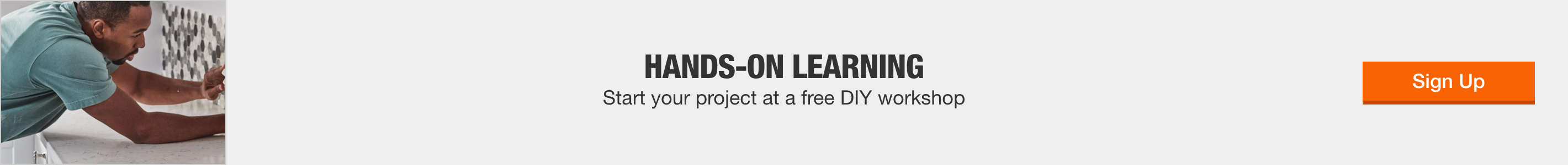 hands-on learning - start your project at a free DIY workshop