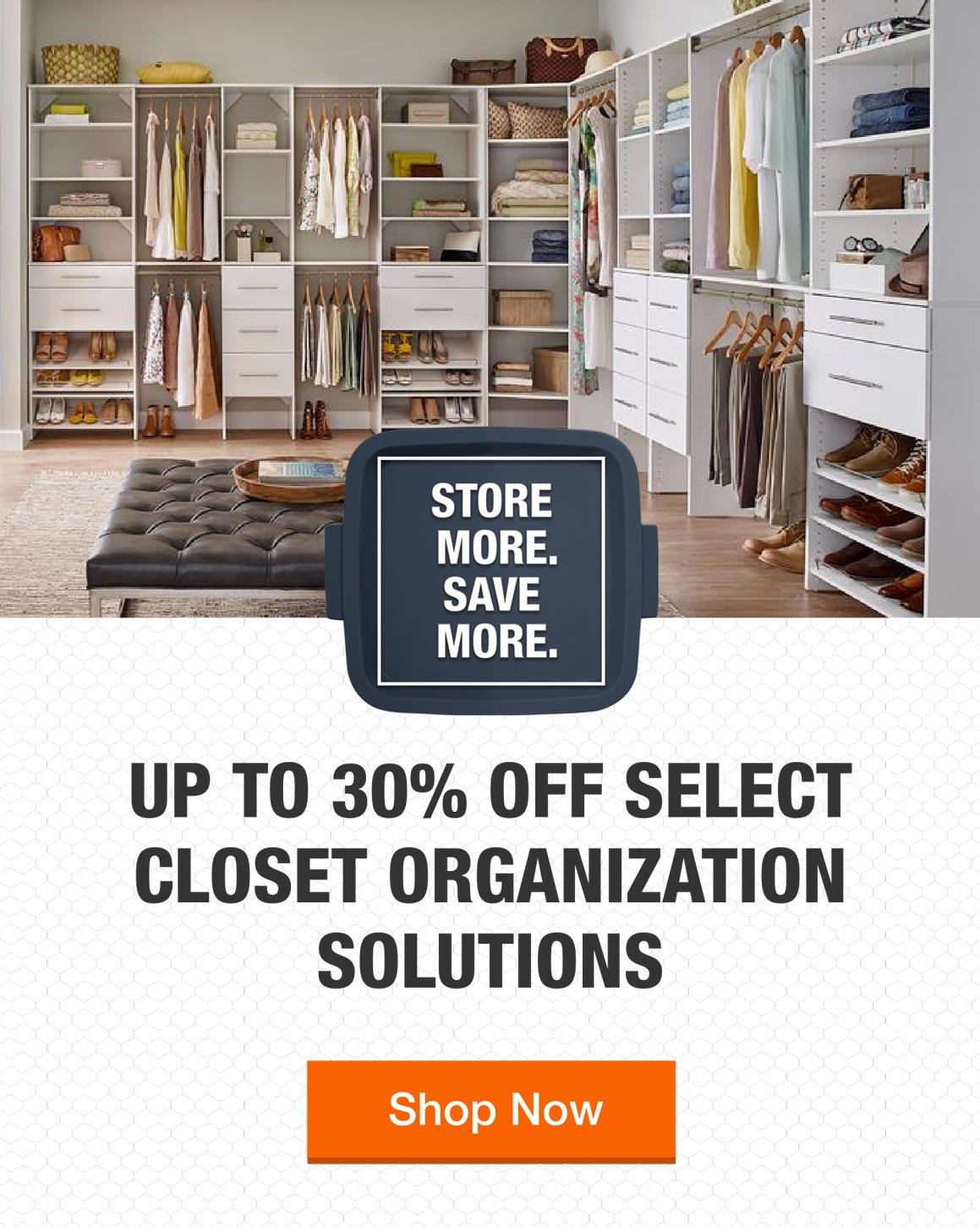 Closet Organizers The Home Depot