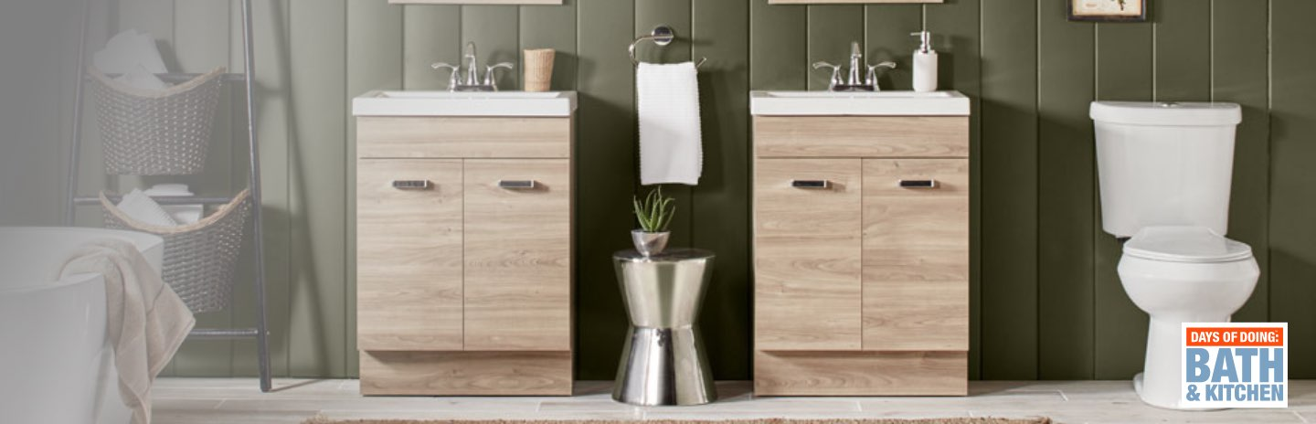 Days of Doing: Bath & Kitchen  SEMI-ANNUAL SAVINGS + FREE DELIVERY  Update Your Style with 1000s of Items