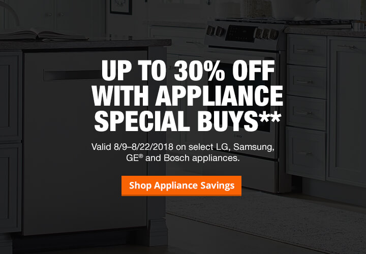 Up To 30% Off With Appliance Special Buys.** Valid 8/9