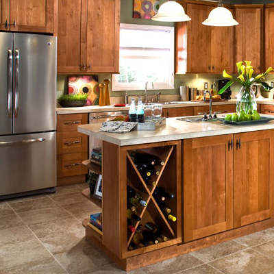 Shop Home Decorators Hargrove Cinnamon Cabinets
