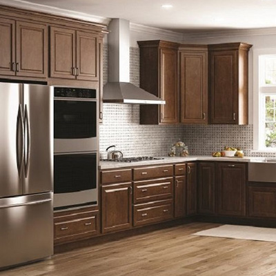 Kitchen cabinets color gallery at the home depot shop hampton bay hampton cognac cabinets aloadofball Gallery